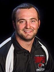 Simpson University wrestler Austin Lobsinger.