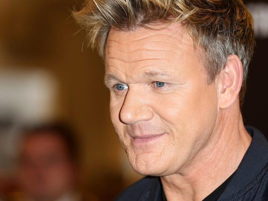 Gordon Ramsay Signs Copies Of His New Book 'Bread Street Kitchen'
