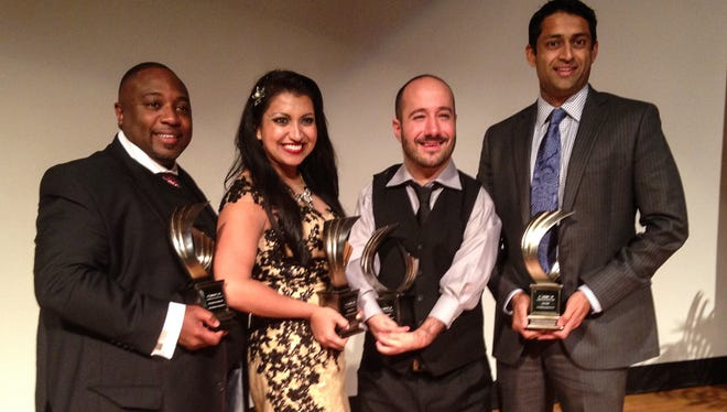 The honorees: Rev. Glenn B. Dames, Natasha Duran, Vinnie Taranto and Amar Patel.