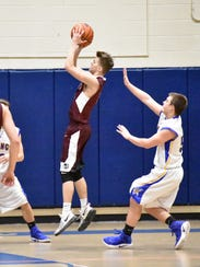 Southern Fulton's Chase Varner takes a shot during