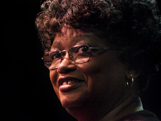 Claudette Colvin in  2005. Colvin was attending the school in 1955 when she was arrested for not giving up her seat on a Montgomery city bus.
