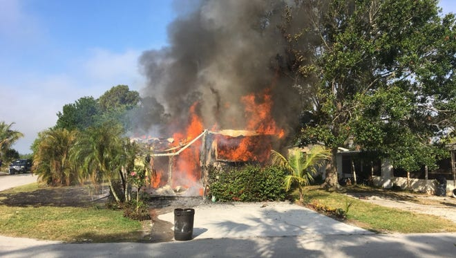 Fire consumes mobile home in Indiantown