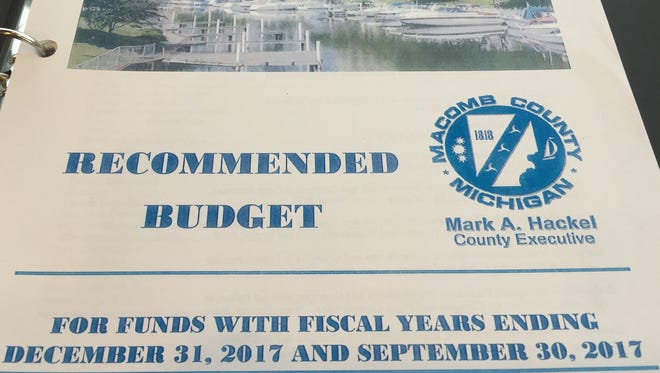Macomb County proposed 2017 budget.