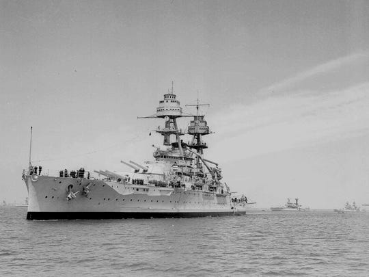 The Oklahoma — the first to be hit in the Japanese sneak attack on Pearl Harbor — capsized in less than 15 minutes nearly 74 years ago on Dec. 7, 1941, the day that led the U.S. into World War II.