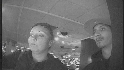 Reno Police are searching for the woman pictured in connection with a Nov. 10 auto theft and credit card fraud case.