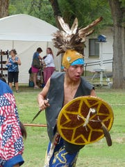 Dancers from the Mescalero Apache Tribe performed some