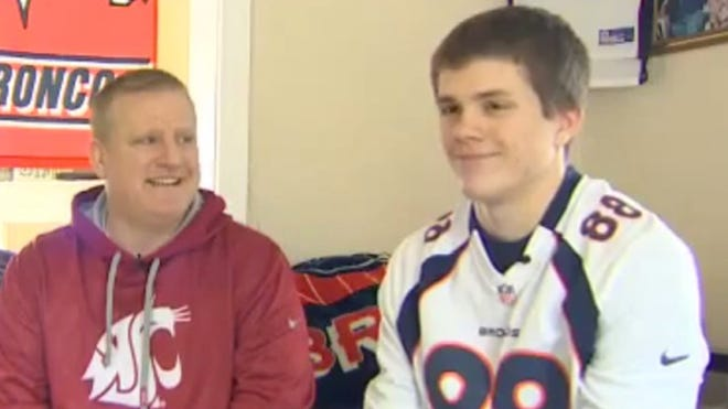 Seattle-area teen Nathan Wentz was sent home from work for wearing a Denver Broncos jersey on championship Sunday, then was fired when he never returned.