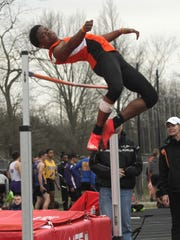 Mansfield Senior's Angelo Grose should score lots of points this spring for the Tygers in the high jump and the long jump.