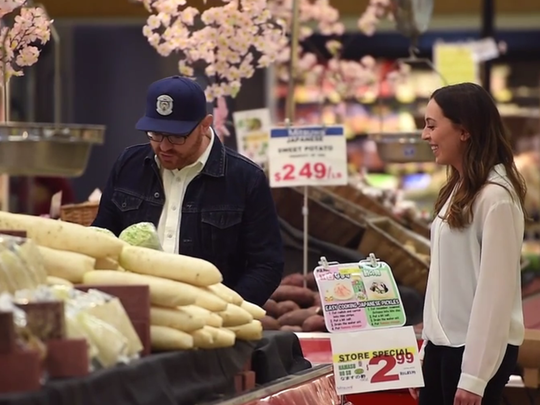The produce section at Mitsuwa Marketplace features hard-to-find Asian fruit and vegetables.