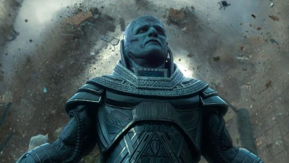 "Oscar Isaac stars as Apocalypse in ""X-Men: Apocalypse."""