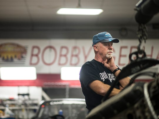 Bobby Gerhart talks about the upcoming season in his shop on Wednesday, November 9, 2016.