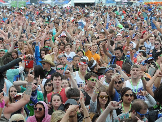 Audience members revel in the 2013 Indy 500 Snake Pit, an Electronic Dance Music concert that coincided with the 97th edition of the Indianapolis 500 at Indianapolis Motor Speedway. Details for the 2014 Indy 500 Snake Pit will be announced on Monday, March 3.