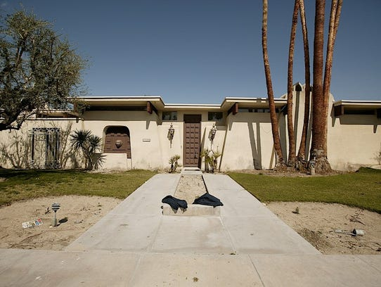 What the home on East Sierra Way in Palm Springs looked