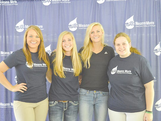 Michigan Dairy Ambassadors were on hand to promote