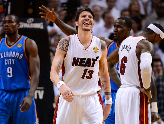 MIAMI, FL - JUNE 21:  Mike Miller #13 of the Miami