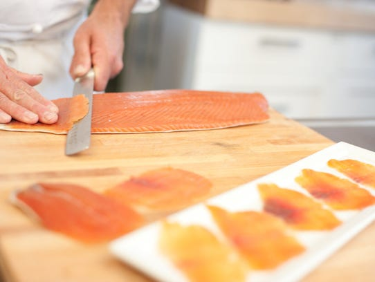 Lox makes an excellent centerpiece for those who eat