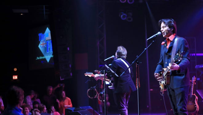 John Menniti, right, and The Fab perform a set of The Beatles' love songs Saturday at the CasaBlanca Resort in Mesquite.