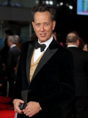 Richard E. Grant looks like he'll fit right in on the 'Downton Abbey' set.