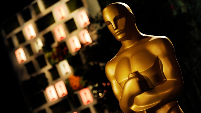An Oscar statuette is pictured at the Governors Ball Press Preview for the 86th Oscars in Los Angeles.