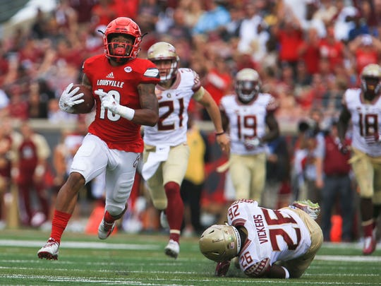 Jaire Alexander scored a TD in a blowout 2016 win over Florida State. Alexander is a 2018 NFL draft prospect.