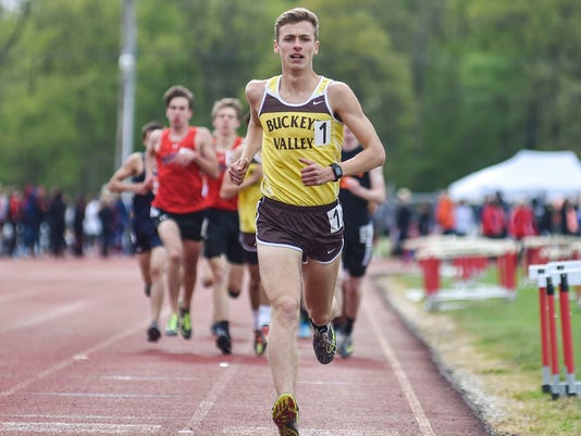 Buckeye Valley distance runner Zach Kreft
