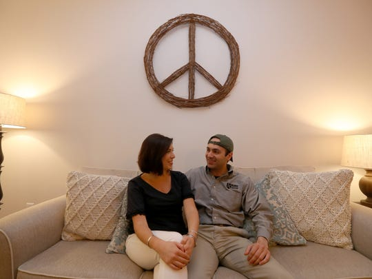 Alexandra Isabelle and David Moretti moved into the Danforth apartments in Dobbs Ferry in March.