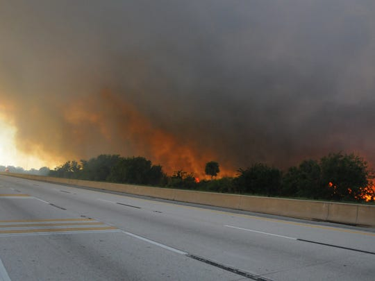 Smoke from the fire had authorities eventually  shut