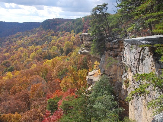 The Great Stone Door in Savage Gulf State Natural Area offers the best overlook on the Cumberland Plateau.