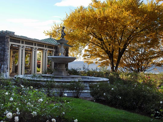 The rose garden during the fall at Kykuit, the Rockefeller Estate in Sleepy Hollow. Several generations of Rockefellers lived in the 40-room mansion and grounds there.