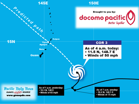 Track Tropical Storm Chan-hom with this graphic by the Pacific Daily News.