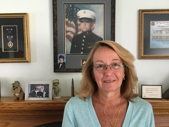 Eileen Cosgrove honors the memory of her stepson, USMC
