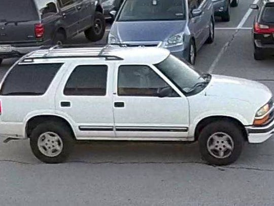 York Area Regional Police are for this white SUV in connection with thefts from vehicles and vandalism at LJM Elementary School in Windsor Township on Thursday.