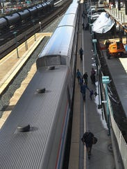 Passengers disembark March 25, 2017, in Emeryville,
