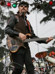 Les Claypool of Primus performs during day two of the