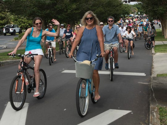 Bicycle riders of all ages and skill levels gather