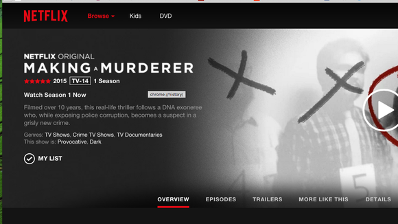 """The 10-episode documentary, """"Making a Murderer,"""" is airing on Netflix."""