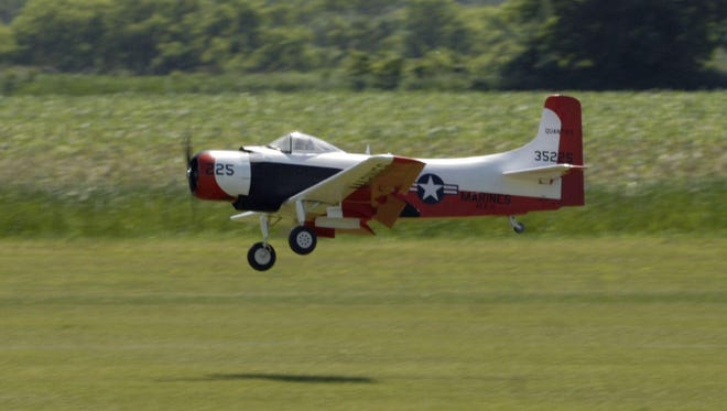 A photo from the remote-controlled airplane fly-in at Wellnitz Field on Hickory Road south of Fond du Lac, Saturday, June 21, 2008.
