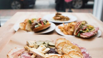 Fri., Jan. 13, 2017: Panino's house made salami and charcuterie board, which serves three to four, is duck prosciutto, soppressata, coppa, paired with three local cheeses, local honey, house pickles, mustard and artisan bread ($30).