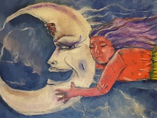 """Abuelita y la Luna"" by Mary A. Luevanos will be on display Saturday at Teatro Chico in Mexicantown."