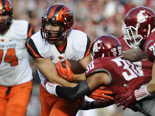 Oregon State running back Ryan Nall pulled for Oregon and Oregon State growing up.