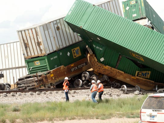 Crewmen were on the scene of a Union Pacific train