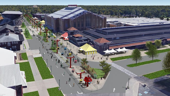 The Subaru Skyride will carry Indiana State Fair visitors along the length of Main Street. The lift is expected to open with the fair, on Aug. 4.