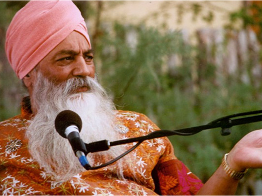 "One of the figures featured in Ned O'Malia's Chautauqua ""Yogis, Sikhs and Zen Masters Along the Rio Grande"" is the late Yogi Bhijan, leader of the North American Sikhs based in Espanola."