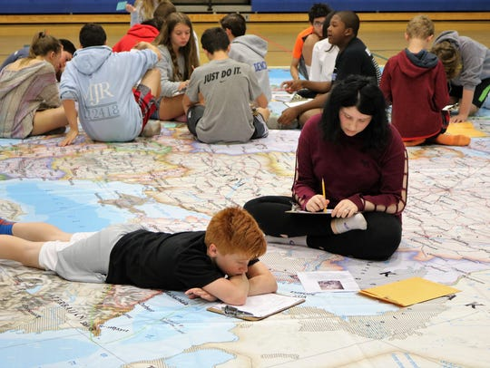 Giant map provides student-centered approach to Geography.