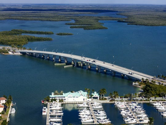 The Judge S.S. Jolley Bridge leading to Marco Island
