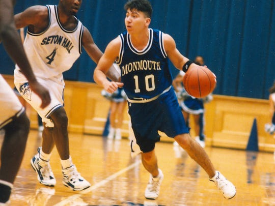 Monmouth's John Giraldo in action against Seton Hall in 1995.