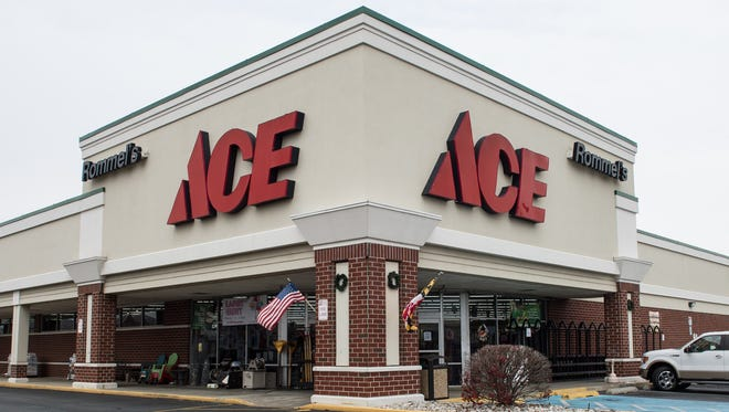 An exterior view of Rommel's Ace Home Center on West College Avenue on Friday, Dec. 8, 2017. The store sold over 2 tons of salt within the first few hours of being open.