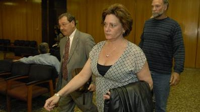 Darlene Deats at her criminal arraignment. She was later acquitted of all the charges against her.