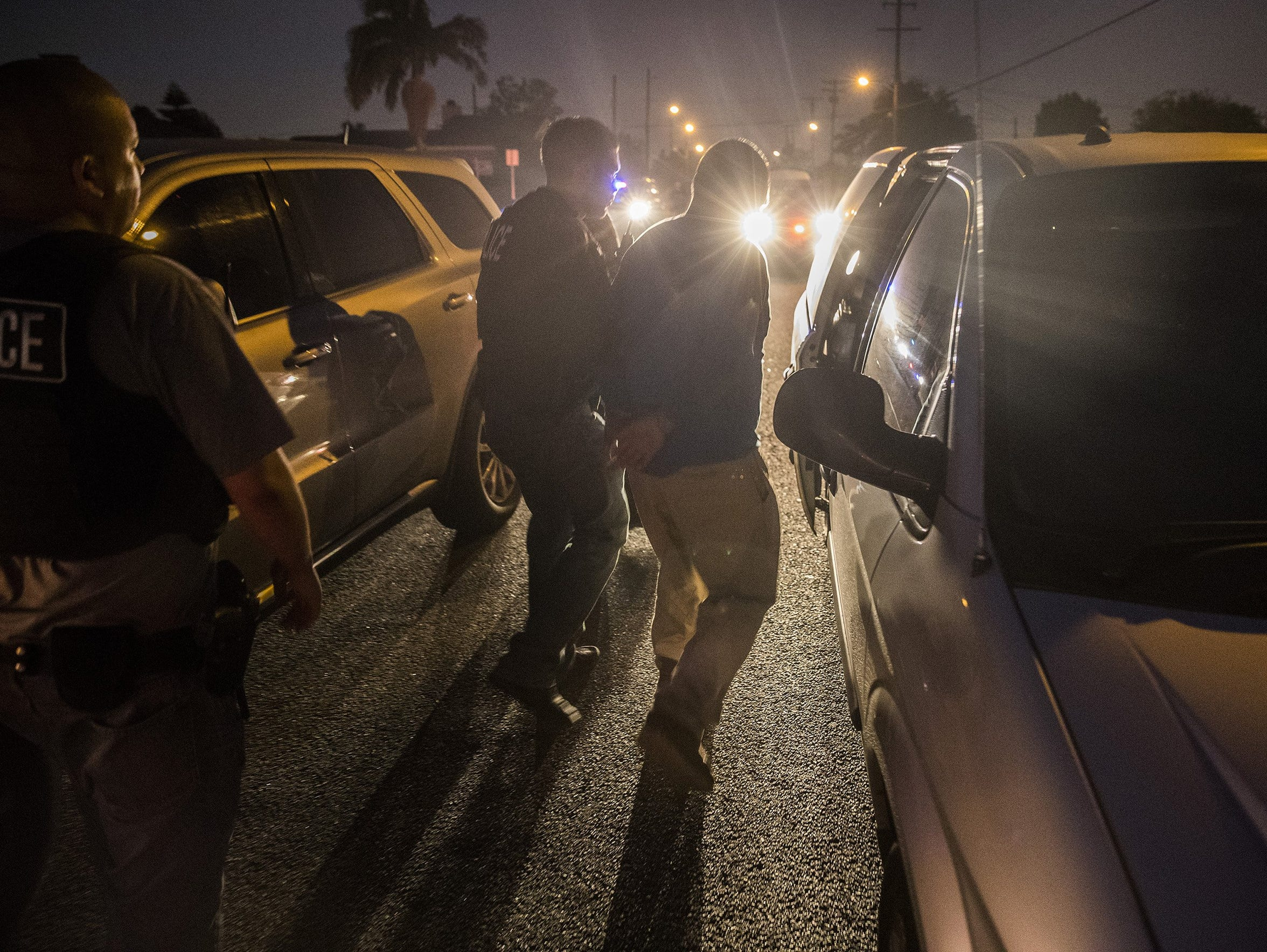 This file photo shows Immigration and Customs Enforcement