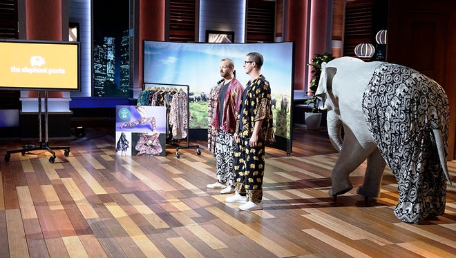 """RIT alumni James Brooks and Nathan Coleman pitched The Elephant Pant to investors on ABC's """"Shark Tank."""""""